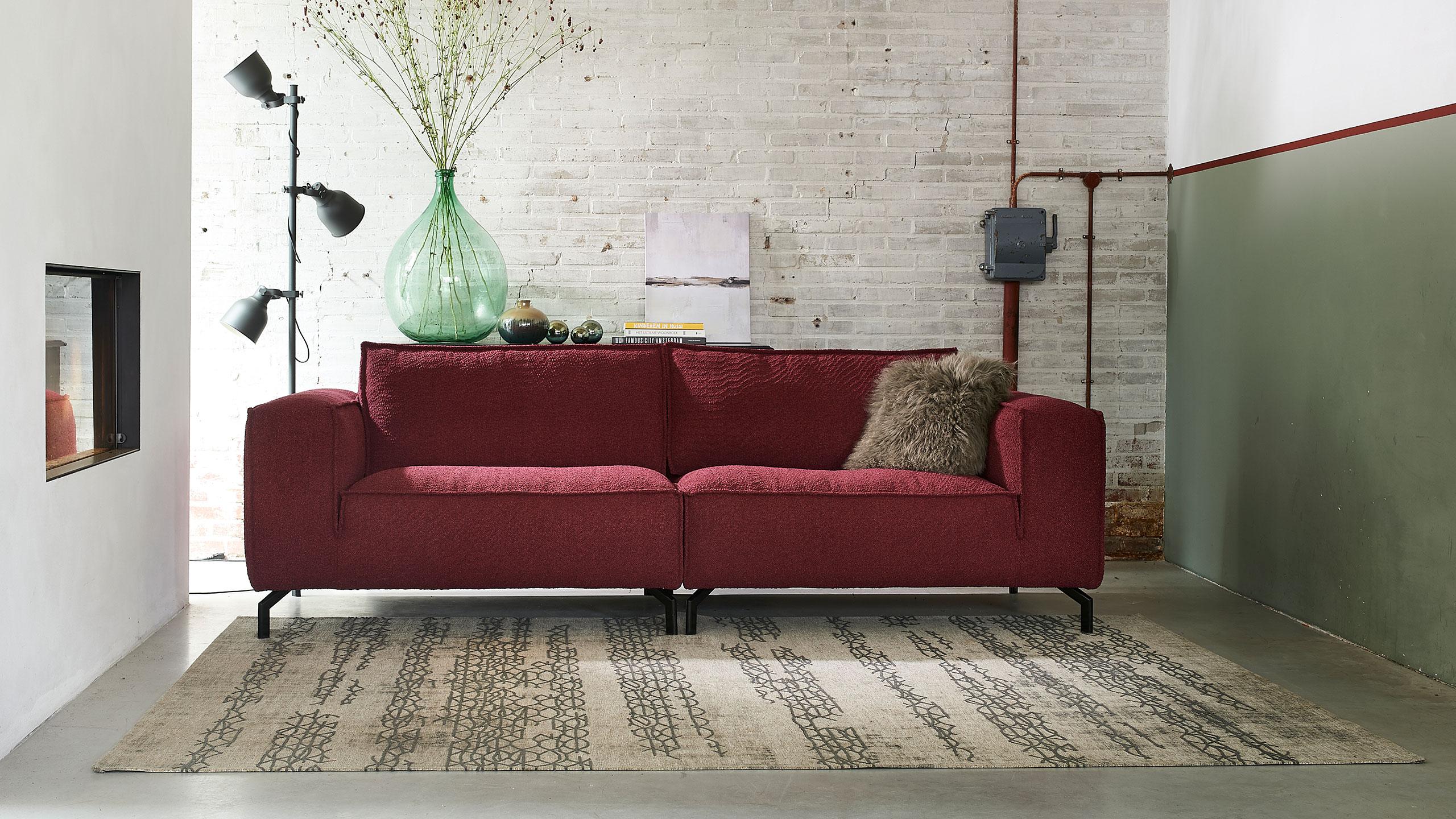 Kurup Sofa Garnitur Rot