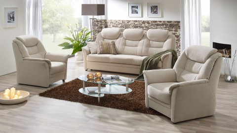Köln Sofa 210 cm Stoff Beige