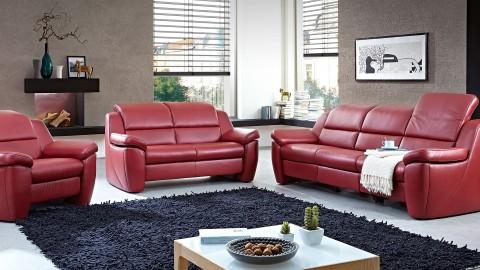 MultiMotion Sofa 227 cm Leder Rot