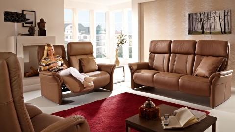 Magic Comfort Sofa 152 cm Leder Braun