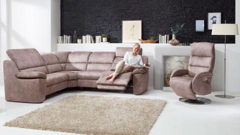 MultiMotion Style Sessel Stoff Braun