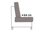 Sitztiefe 64cm