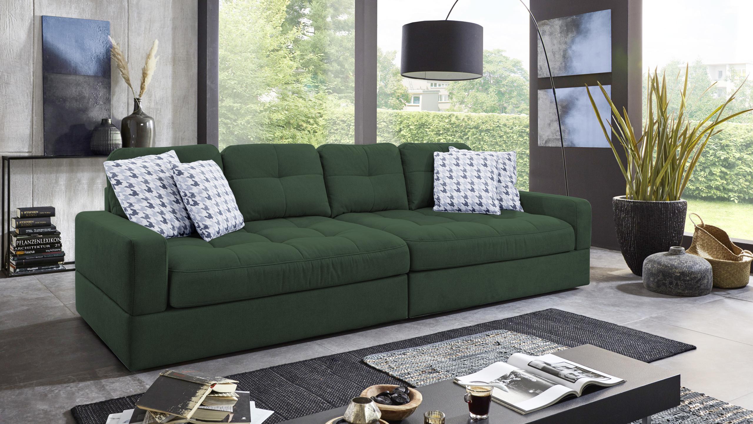 Fin Sofa Garnitur Grün