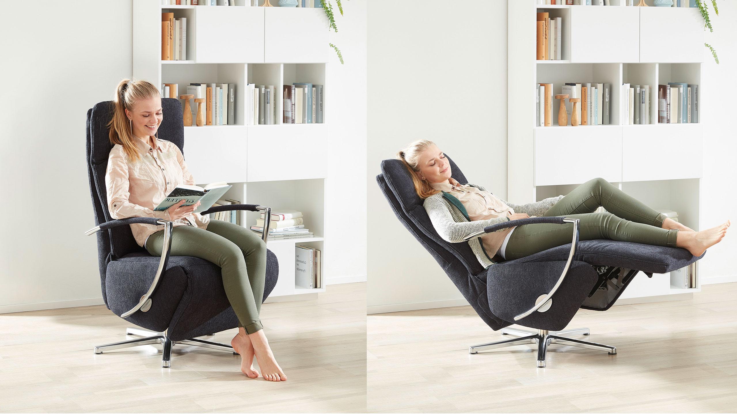 Neo Style Sessel Stoff Blau