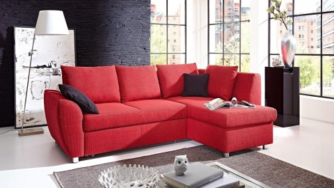 Falco Schlafcouch Stoff Rot